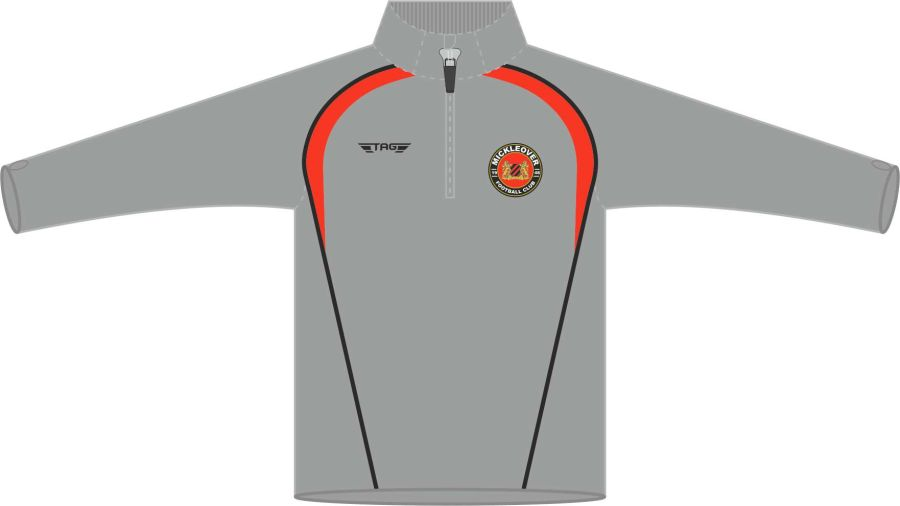 D6G. Mickleover FC 1/4 Zip Tech Midlayer Top Fitted - Child