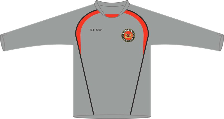 D6L. Mickleover FC Crew Neck Tech Midlayer Top Fitted - Adult