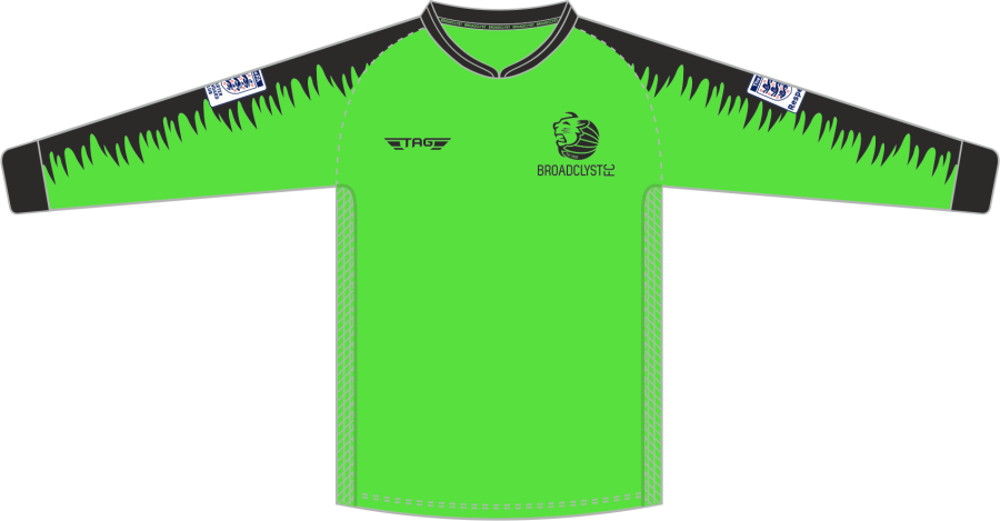 C4D. Broadclyst FC L/S Padded Green GK Jersey - Adult