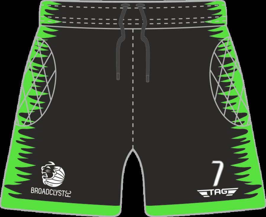 C4O. Broadclyst FC Padded Green GK Short - Child