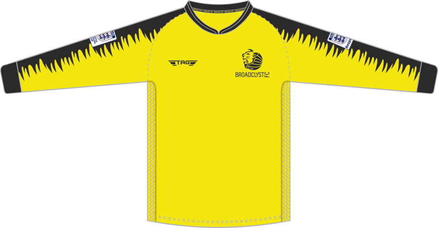 C4F. Broadclyst FC L/S Padded Yellow GK Jersey - Adult
