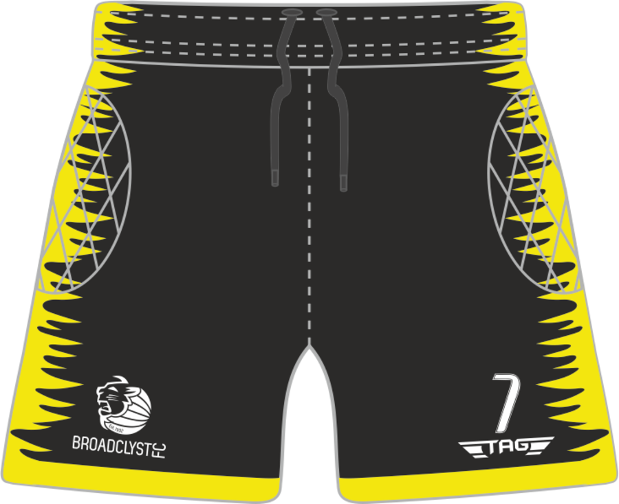 C4O. Broadclyst FC Padded Yellow GK Short - Child