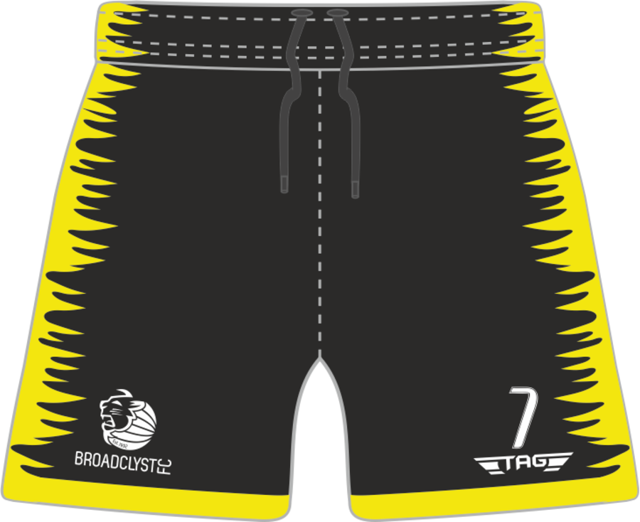 C4P. Broadclyst FC Yellow GK Short (no padding) - Adult