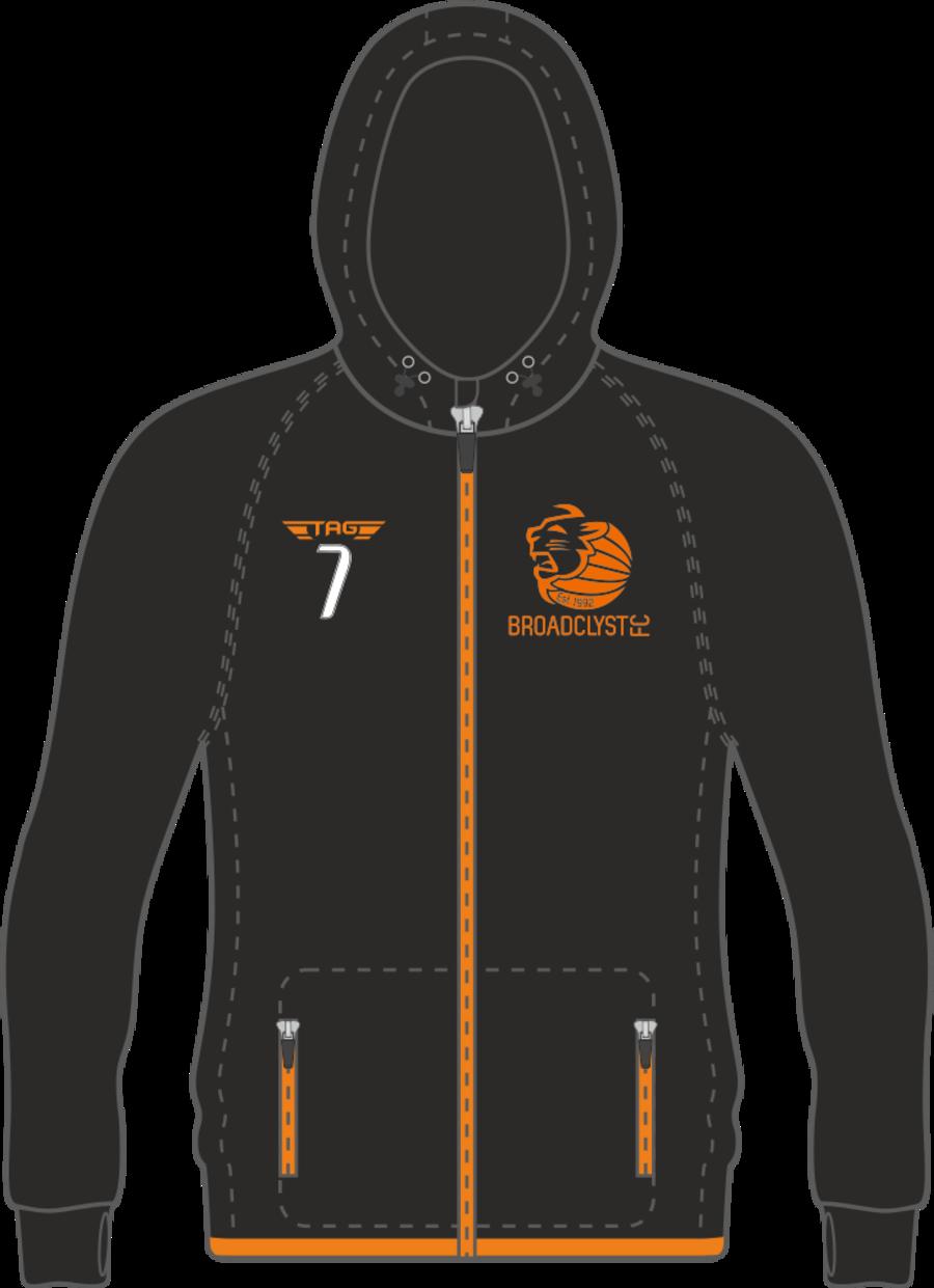 D7I. Broadclyst FC Melange Fashion Hoody - Child