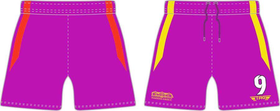 C4P. Peasedown Albion Purple GK Short - Adult