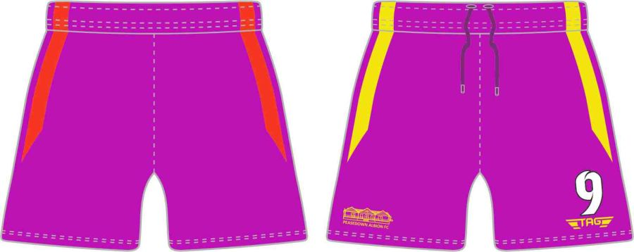 C4O. Peasedown Albion Purple GK Short - Child