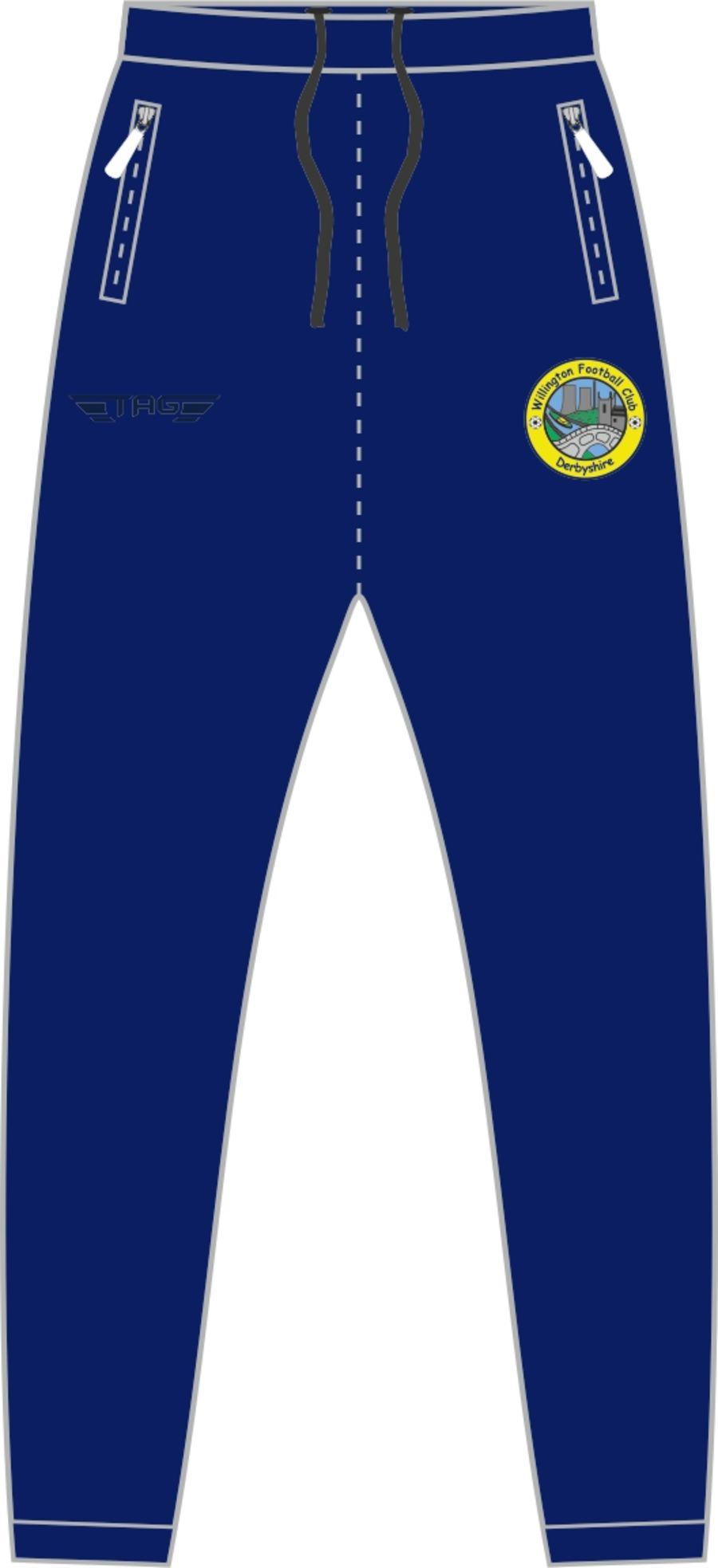D2F. Willington FC Casual Fit Tech Trouser - Adult