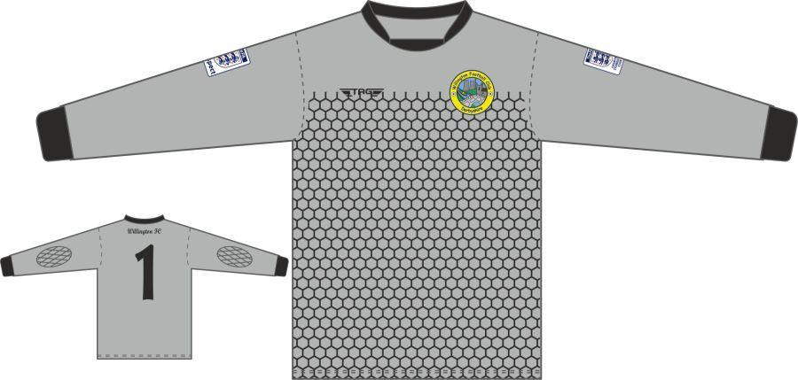 C4F. Willington FC L/S Padded Grey GK Jersey - Adult