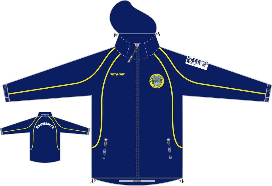 D4D. Willington FC Rain Jacket - Adult