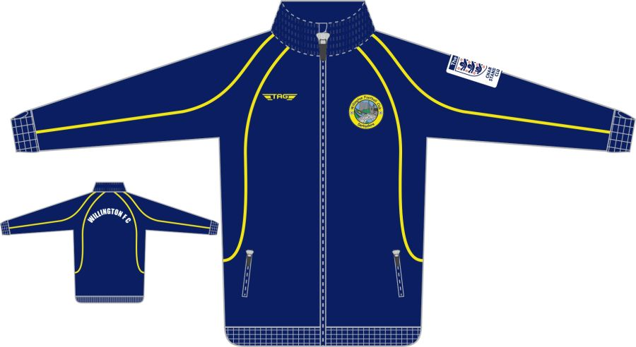 D6D. Willington FC Full Zip Tech Jacket - Adult