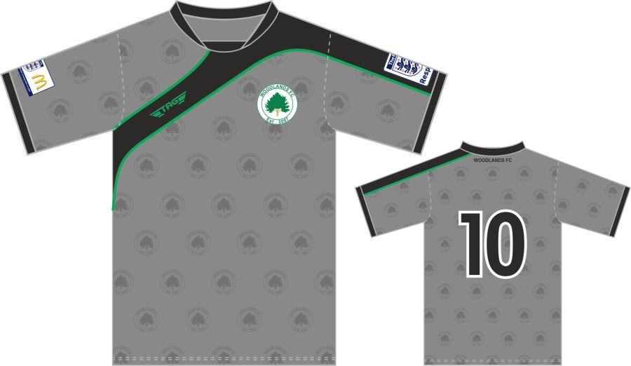 C3C. Woodlands FC Away Match Jersey S/S - Child