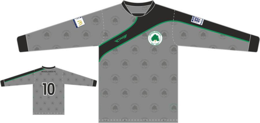 C3E. Woodlands FC L/S Away Jersey - Child