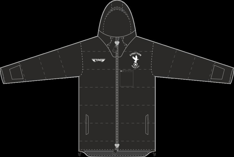 D5H. Stretton Eagles Hip Length Stadium Jacket - Adult