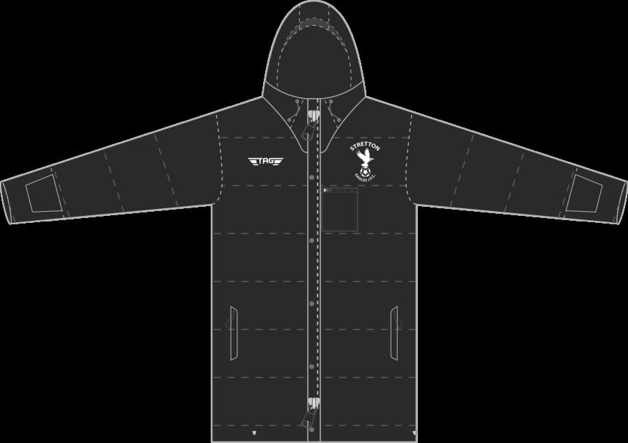 D5J. Stretton Eagles Knee Length Stadium Jacket - Adult
