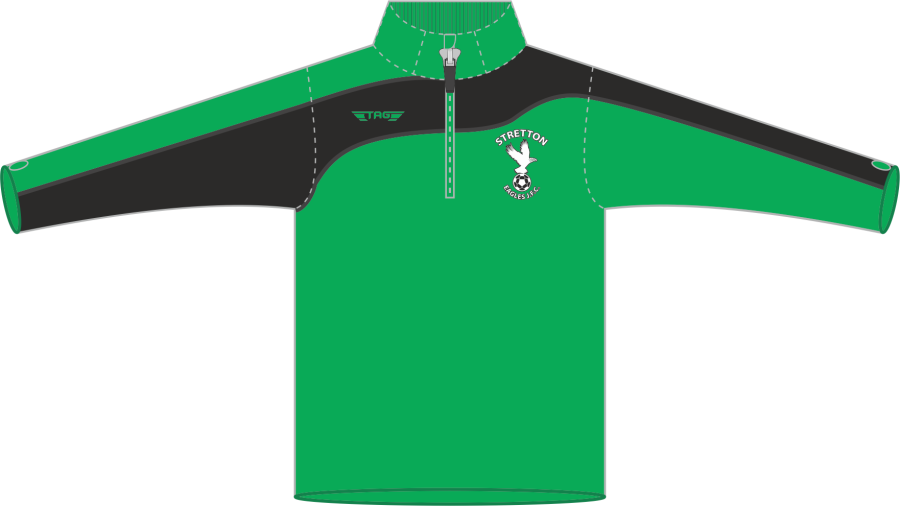 D6H. Stretton Eagles 1/4 Zip Midlayer Top - Adult