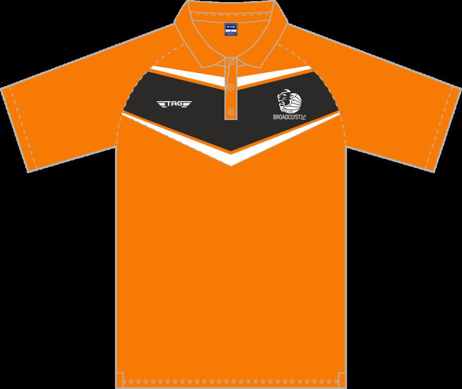 D8D. Broadclyst FC - Players Hybrid 'V' Polo Shirt - Adult