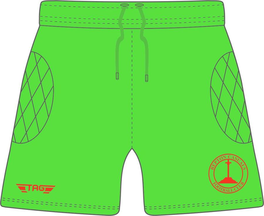 C4L. Repton Casuals Bright Green GK Short - Adult
