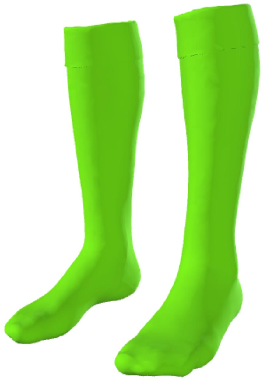 C4S. Repton Casuals - Bright Green GK Sock - Child