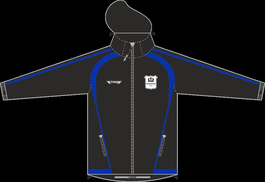D4D. Kingswood TFC Coaches Rain Jacket - Adult