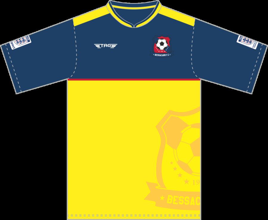 C3D. Bessacarr FC S/S Away Match Jersey - Adult