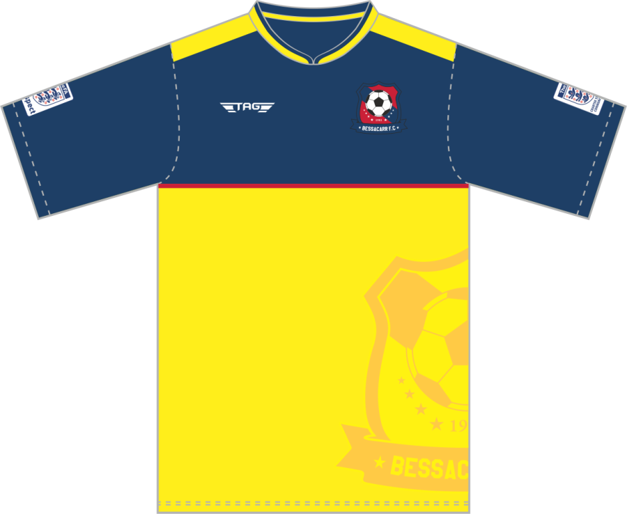 C3C. Bessacarr FC S/S Away Match Jersey - Child