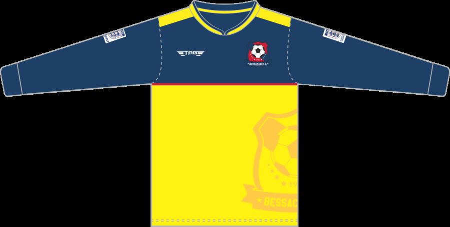 C3F. Bessacarr FC L/S Away Match Jersey - Adult