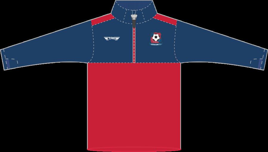 D6G. Bessacarr FC Players Hybrid QZ Midlayer - Child