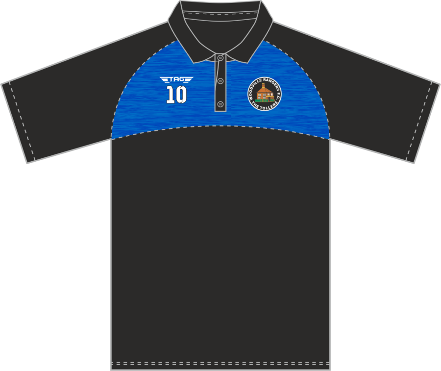 D8C. Woodville Rangers FC Hybrid Polo Shirt - Child