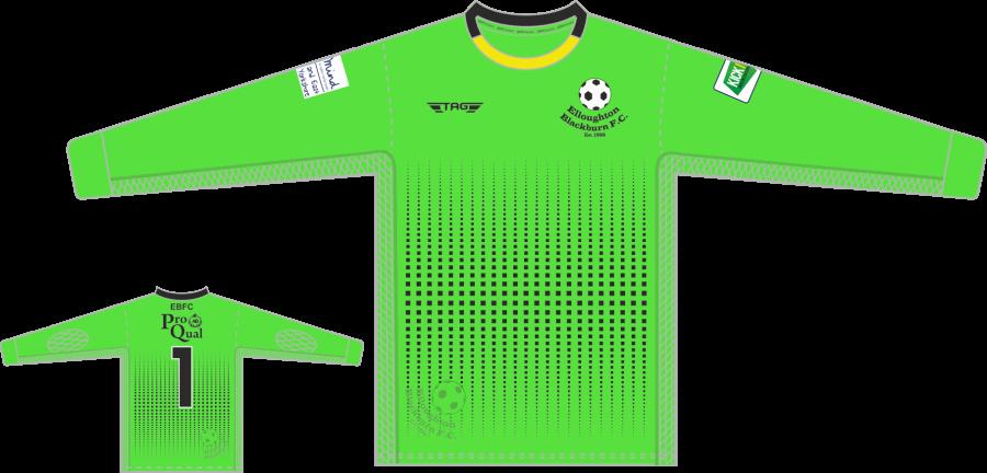 C4A. Elloughton Blackburn FC - Bright Green GK Jersey - Child