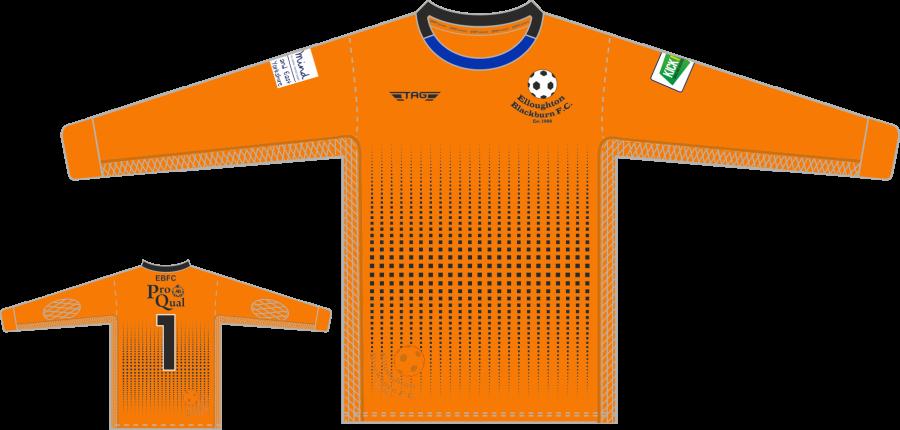C4B. Elloughton Blackburn FC - Orange GK Jersey - Child