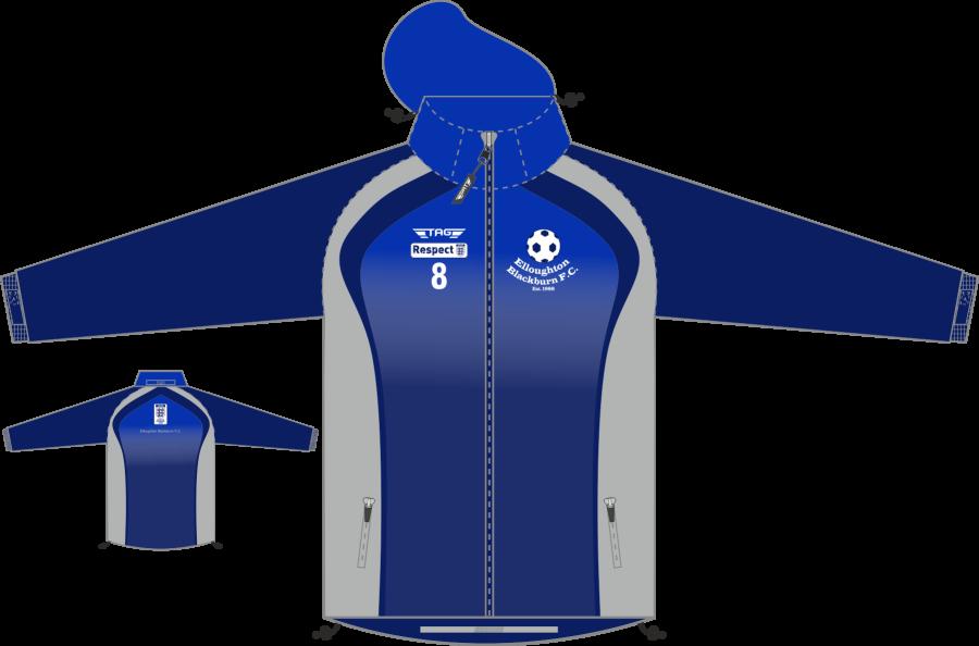D4C. Elloughton Blackburn FC - Hybrid Mesh Lined Rain Jacket - Child