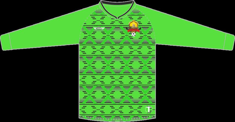 C4B. Bolsover Town FC - Bright Green GK Jersey - Adult