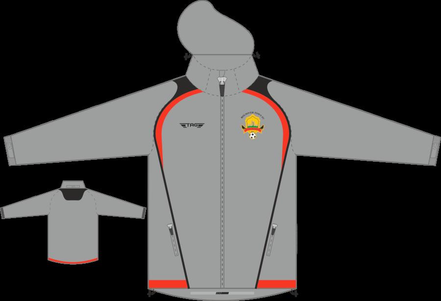 D4D. Bolsover Town FC - Rain Jacket - Adult