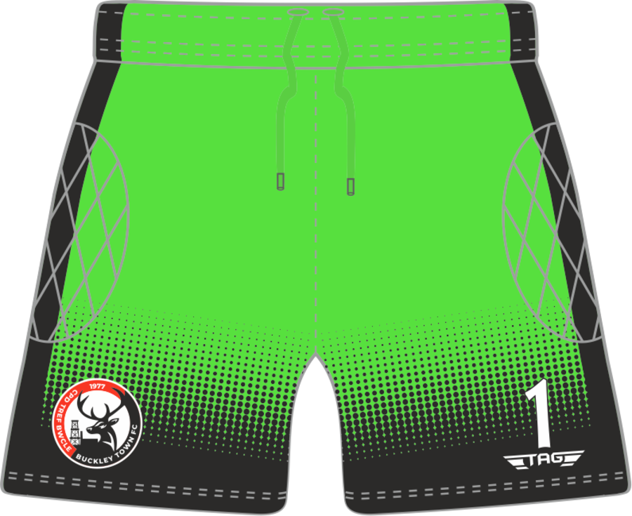 C4H. Buckley Town FC - Green GK Short - Adult