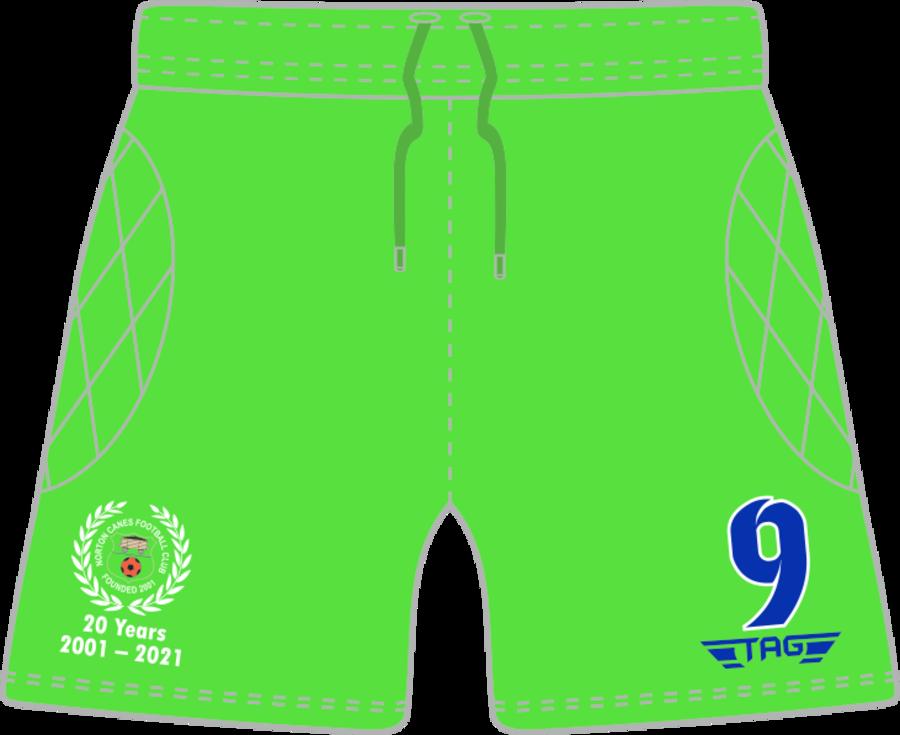 C4L. Norton Canes FC - Bright Green GK Short - Adult