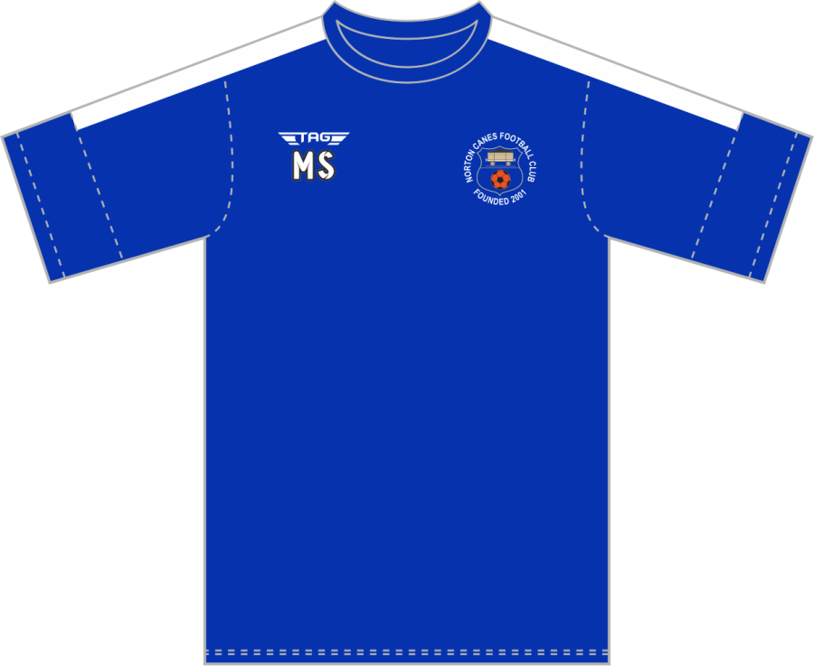 D3F. Norton Canes FC - Royal Training Jersey - Adult