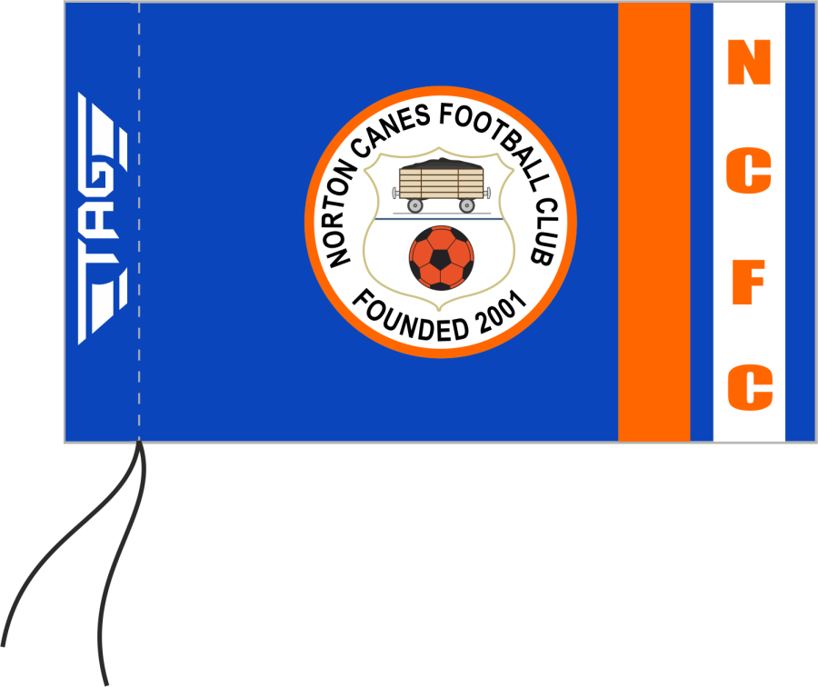 E2J. Norton Canes FC - Sublimated Corner Flag