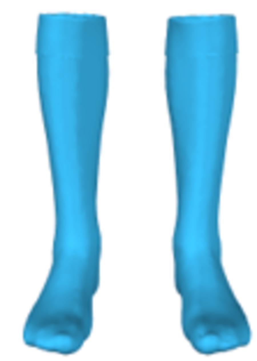 C4ZA. Buckley Town FC - Sky Blue GK Sock - Child