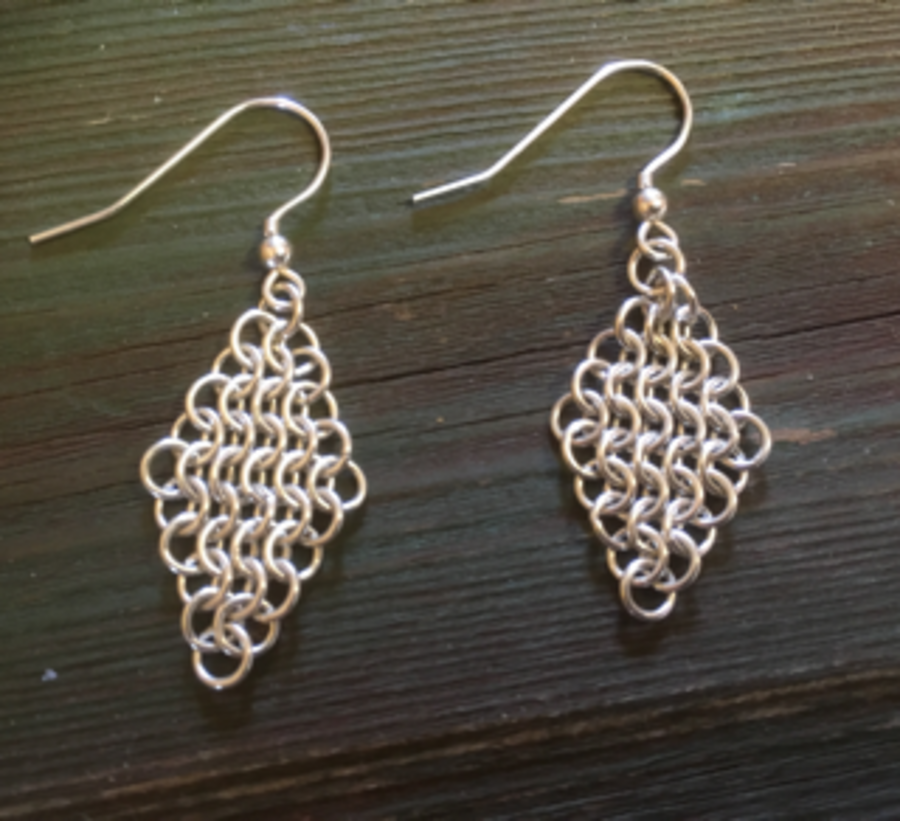 Chainmaille weave Earrings