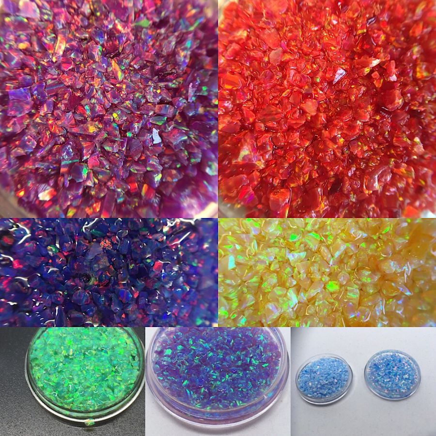 Crushed Opal (synthetic) 1.5mm max for Resin & Inlay work. 1gram from