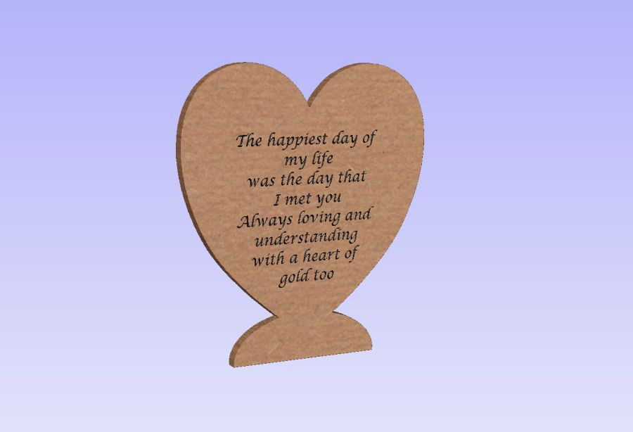 Freestanding 'Happiest Day' Heart