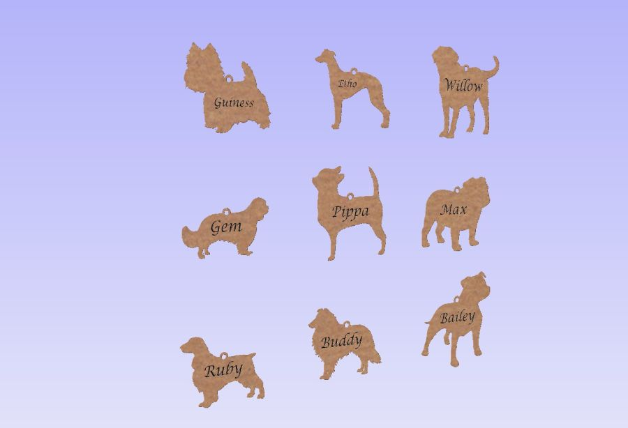 Personalised Dog Baubles