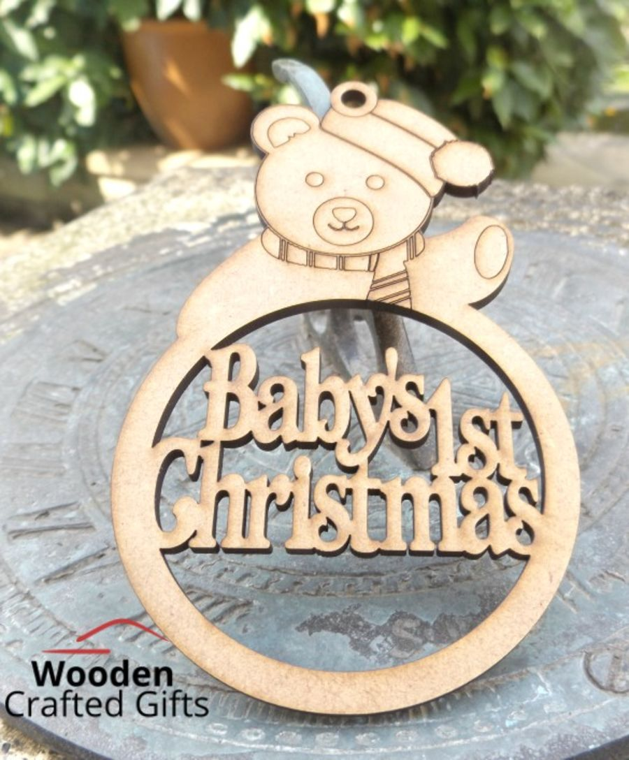 Personalised Bauble + Teddy On Top