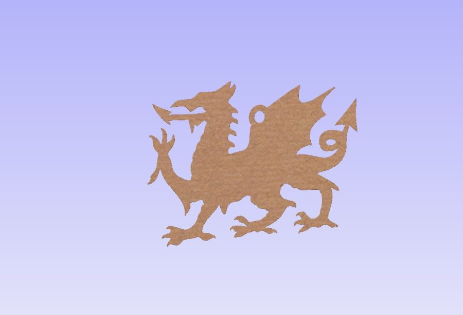 Welsh Dragon Hanging Shape