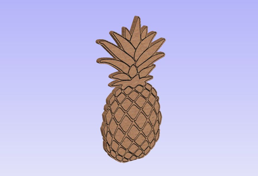 Freestanding Etched Pineapple
