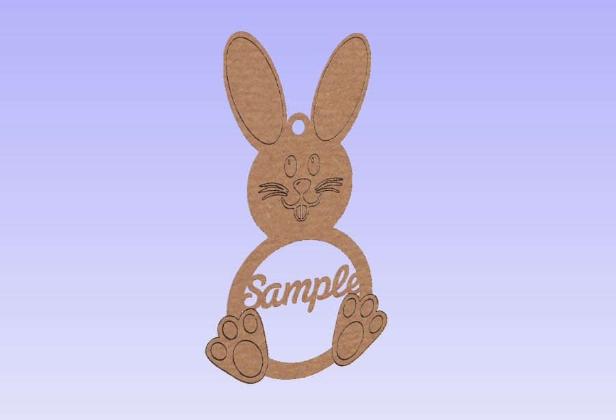 Etched Easter Bunny Bauble