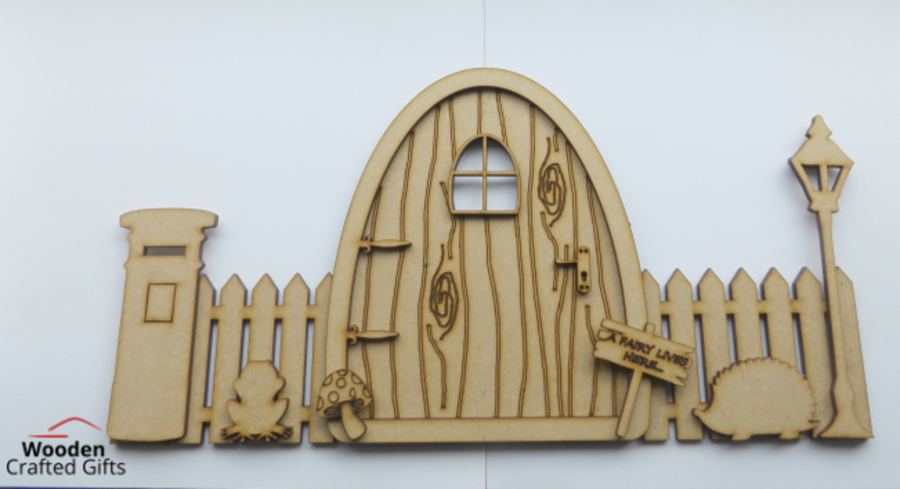 Fairy Door With Fence & Accessories