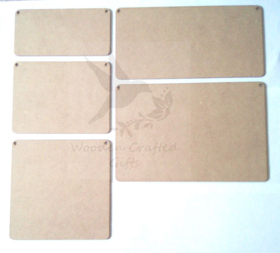 Blank Plaques in 2mm - 3mm Thickness