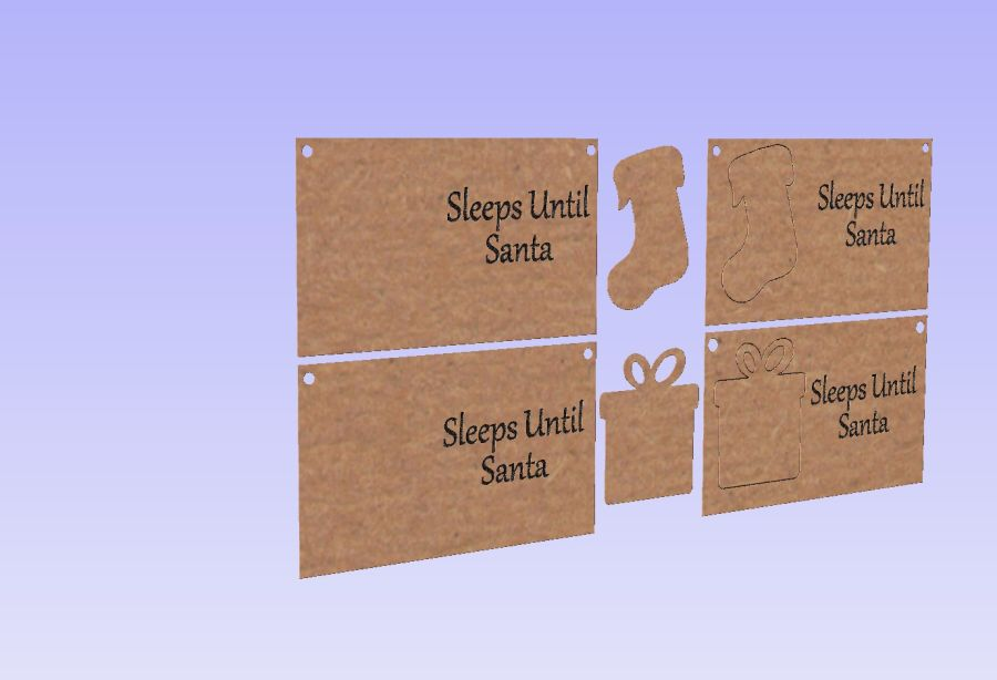 Sleeps Until Santa Plaques