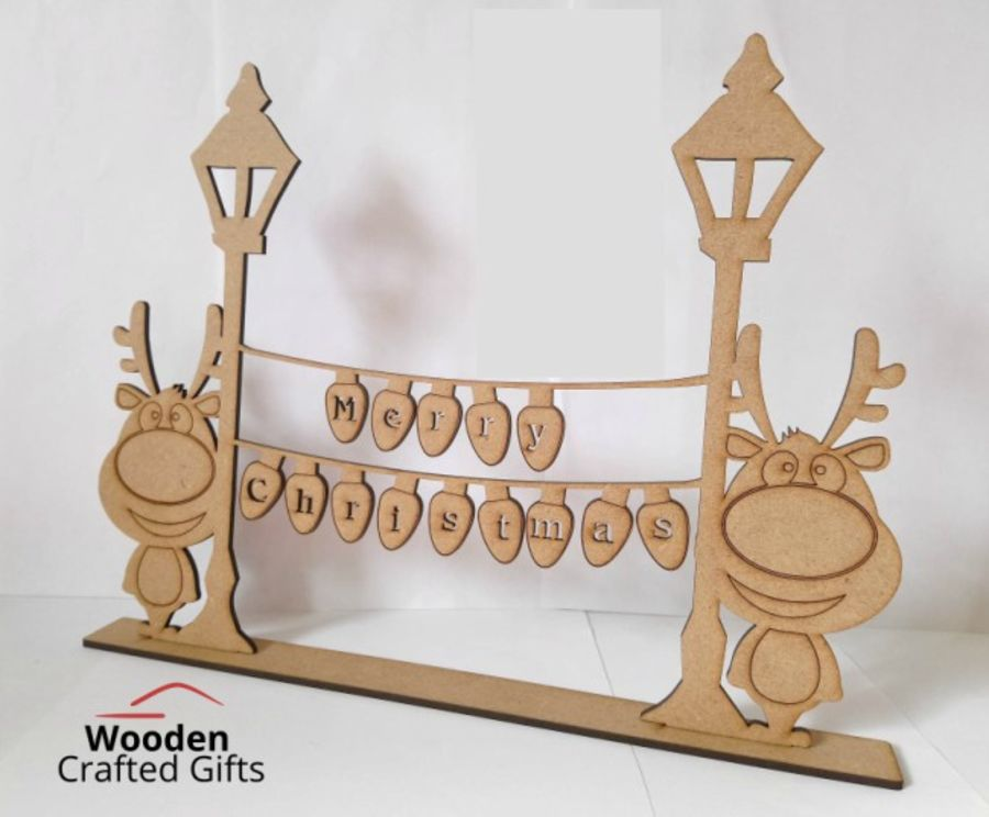 Freestanding Merry Christmas Lamp Posts With Shape